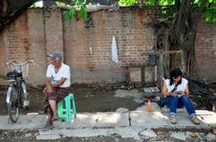 Burmese people and Thai women Stock Photos