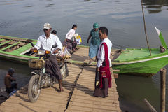 Ferry to Innwa - Myanmar (Burma) Stock Photography
