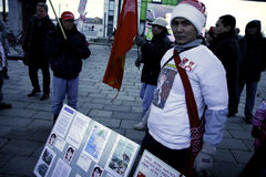 Burmese protesters Royalty Free Stock Images