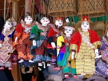 Burmese puppets Stock Photo