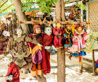 Burmese puppets Royalty Free Stock Images
