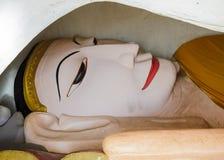 Burmese reclining buddha statue Royalty Free Stock Image