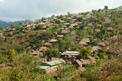 Burmese refugee camp Royalty Free Stock Images