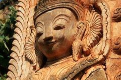 Burmese ruin bas relief Stock Image