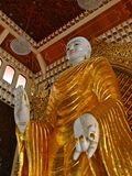 Burmese Standing Buddha. Standing Buddha in Dharmikarama Burmese Temple was the 1st Buddhist temple built in Penang Island, Malaysia Stock Photography