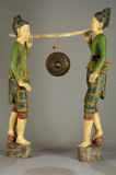 Burmese statues of carriers of gong Stock Images