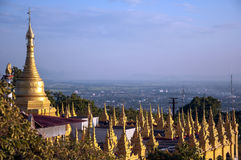 Burmese Stupas Royalty Free Stock Images