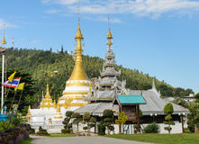 Burmese style temple in Mae Hong Son, Thailand Royalty Free Stock Images