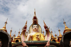 Burmese temple. The Burmese temple in Thailand Stock Images