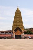 Burmese temple with lion in Sangkhlaburi, Thailand Royalty Free Stock Photos
