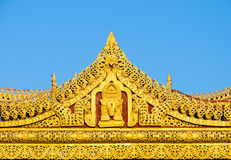 Burmese temple roof Royalty Free Stock Image