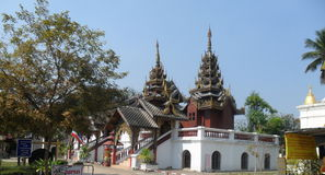 Burmese Temple in Thailand. Myanmar temple is the largest in the thailand Royalty Free Stock Image