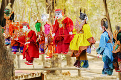 Burmese traditional puppets in Bagan, Myanmar Royalty Free Stock Photography