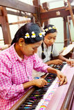 Burmese weaving Stock Photos