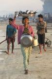 Fishing Village - Ngapali Beach - Myanmar (Burma) Royalty Free Stock Images