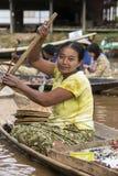 Burmese Woman - Inle Lake - Myanmar (Burma) Stock Photos