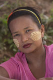 Burmese Woman - Traditional Makeup - Myanmar Royalty Free Stock Photos