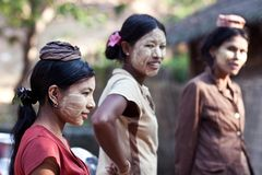 Burmese women Stock Images
