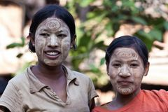 Burmese women Royalty Free Stock Photography