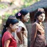 Burmese women Royalty Free Stock Photography