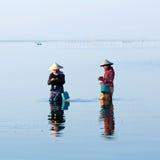 Burmese women in Amarapura, Myanmar Stock Image