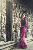 Burmese women portrait. Burmese woman portrait in traditional dress stock images