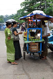 Burmese women shopping Stock Photography