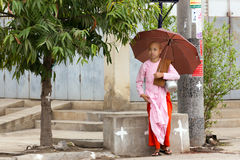 Burmese young nuns Royalty Free Stock Photo