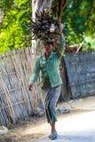 Burmesse农夫妇女Monywa缅甸 免版税图库摄影