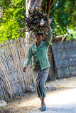 Burmesse farmer woman Monywa Myanmar royalty free stock photography