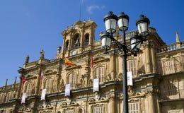 burmistrz plaza Salamanca Fotografia Royalty Free