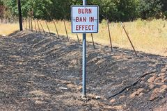 Burn ban Royalty Free Stock Images
