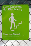 Burn calories. Not electricity sign royalty free stock images