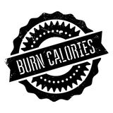 Burn calories stamp Royalty Free Stock Photography