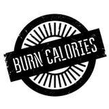 Burn calories stamp Stock Photo