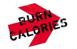 Burn calories stamp Royalty Free Stock Images