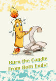 Burn the candle from both ends Royalty Free Stock Photos