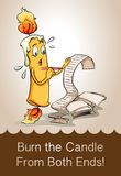 Burn the candle from both ends Stock Photography