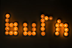 Burn and candles Stock Images