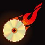 Burn CD. Set 1 Vector Drawing Royalty Free Stock Photo