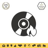 Burn CD or DVD icon. Element for your design . Signs and symbols - graphic elements for your design Stock Photography