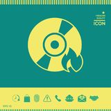 Burn CD or DVD icon. Element for your design . Signs and symbols - graphic elements for your design Stock Images