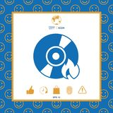 Burn CD or DVD icon. Element for your design . Signs and symbols - graphic elements for your design Stock Image