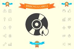 Burn CD or DVD icon. Element for your design . Signs and symbols - graphic elements for your design Stock Photos