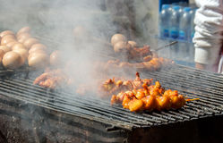 burn curry chicken street food Stock Photography