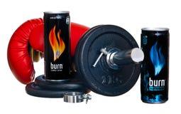 Burn energy drink Royalty Free Stock Photos