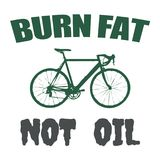Burn fat not oil text design Stock Image