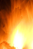 Burn Fire Flame At Dark Background Royalty Free Stock Images