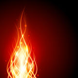 Burn flame fire. Vector background Royalty Free Stock Photo