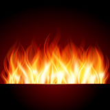 Burn flame fire. Vector background Royalty Free Stock Photography